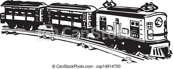 Clipart Vecteur de train., vieux, vapeur - Vector, noir ...  Clipart Vecteur...