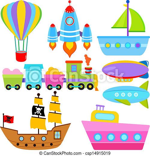 - Boat / Ship / Aircraft Vehicles - stock illustration, royalty free ...