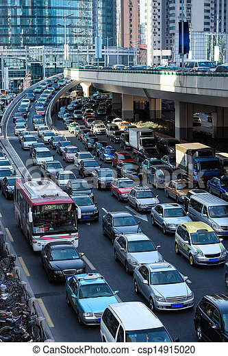 automobile congestion in rush hour - csp14915020