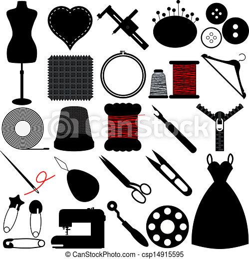 Vecteurs eps de outils couture travail manuel vector - Dessin couture ...