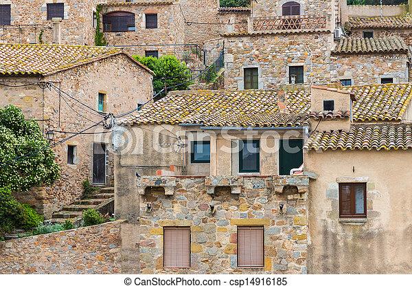 Historic houses at Tossa de Mar, Spain - csp14916185