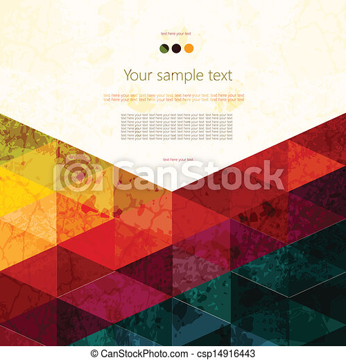 Colorful abstract geometric background - csp14916443