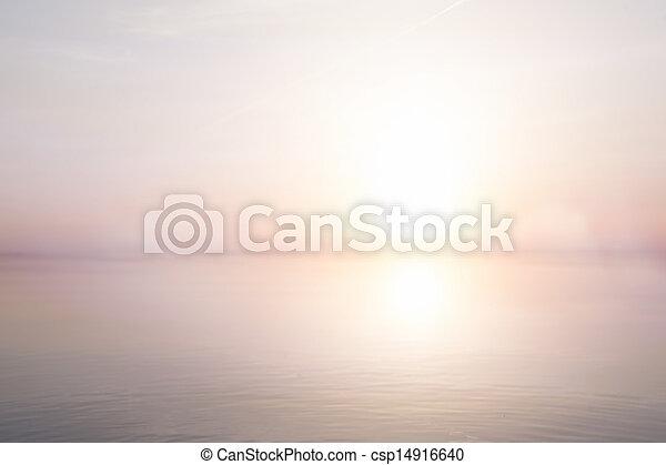 sommer, Kunst, meer, Licht, Abstrakt, hintergrund - csp14916640