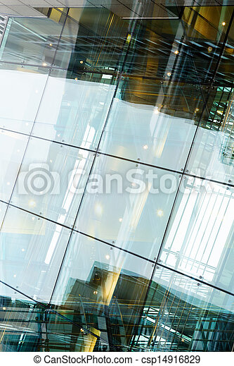 art modern glass business building at night - csp14916829