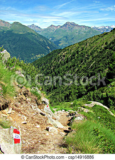 Italian Alps - Mountain path - csp14916886