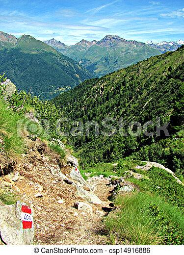 Italian Alps - Mountain path - csp14916886