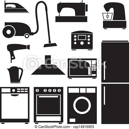 Small Kitchen Appliances Clipart