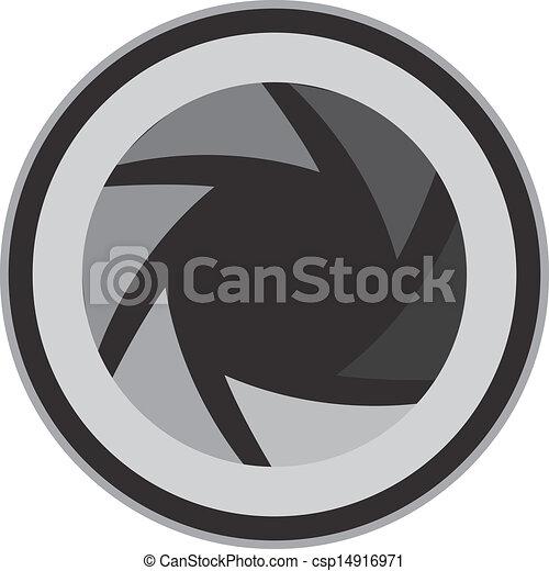 vectors illustration of aperture lens isolated aperture