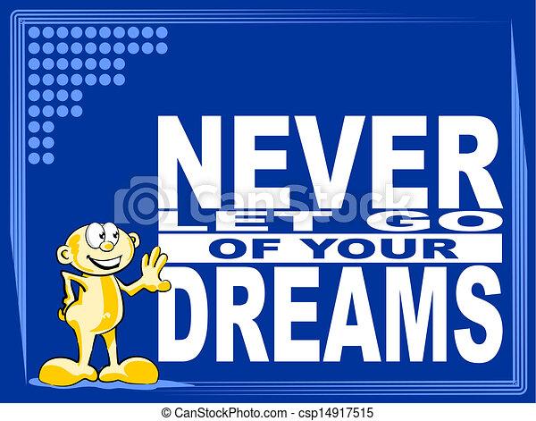 Vector Clip Art of Never let go - motivational phrase - Poster or ...