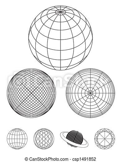 Globe Outline - csp1491852