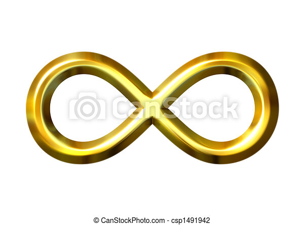 3D Golden Infinity Symbol - csp1491942