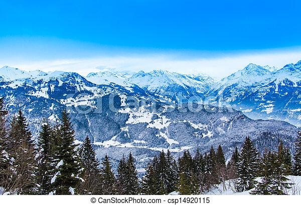 swiss winter season landscape.