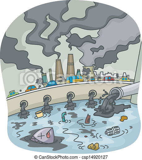 Clip Art Pollution Clipart pollution stock illustrations 45889 clip art images illustration of water and air pollution