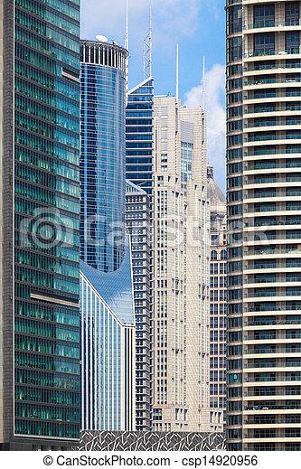 modern banking buildings - csp14920956