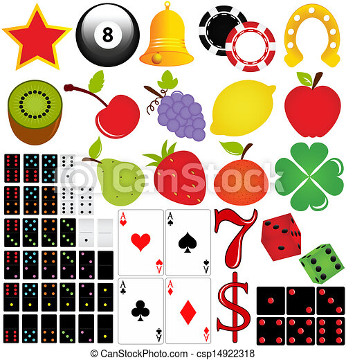 Vector Clip Art of Casino and Gambling - Vector icon set Casino ...