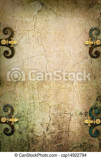 Art Stone Gothic fantasy medieval background - csp14922794