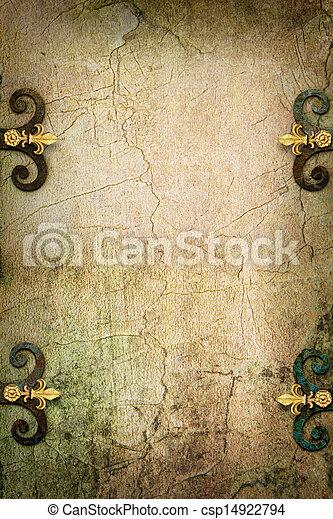 megkövez, művészet, középkori, Képzelet, gót, háttér - csp14922794