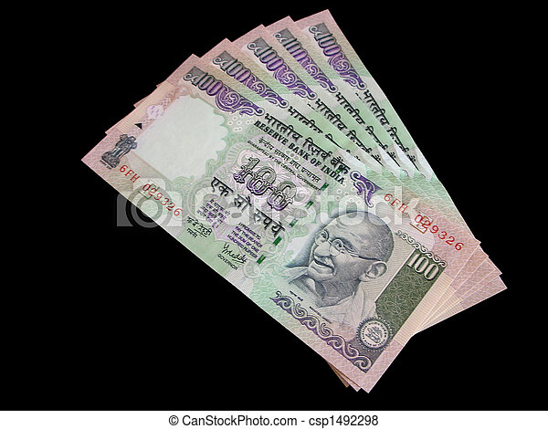 moeda corrente, Índia - csp1492298