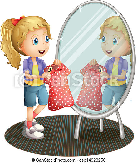 Woman getting dressed clipart