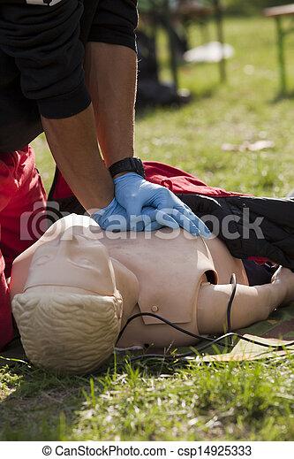 CPR training - csp14925333