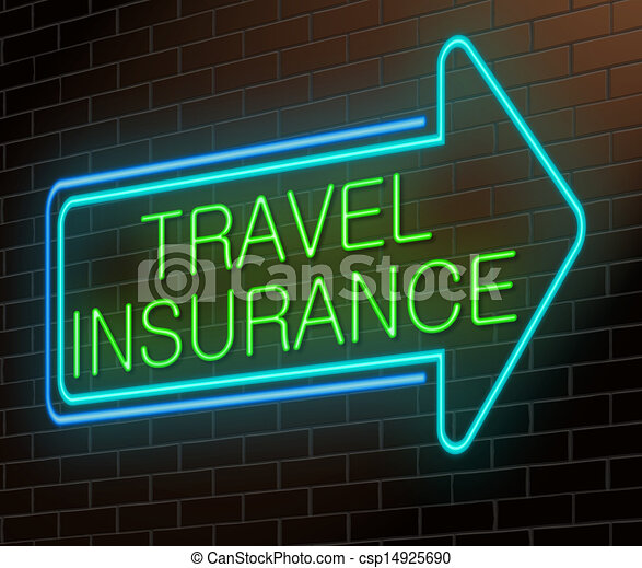 Travel insurance sign. - csp14925690