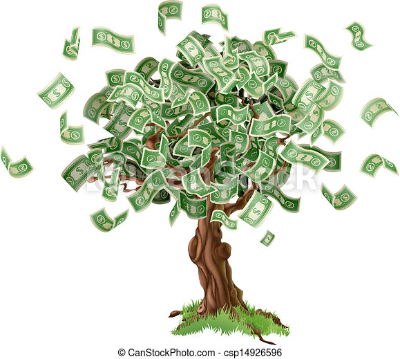 Money savings tree - csp14926596