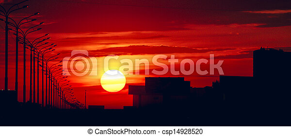 Sunset - csp14928520