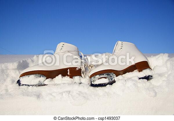 ice skating skates - csp1493037
