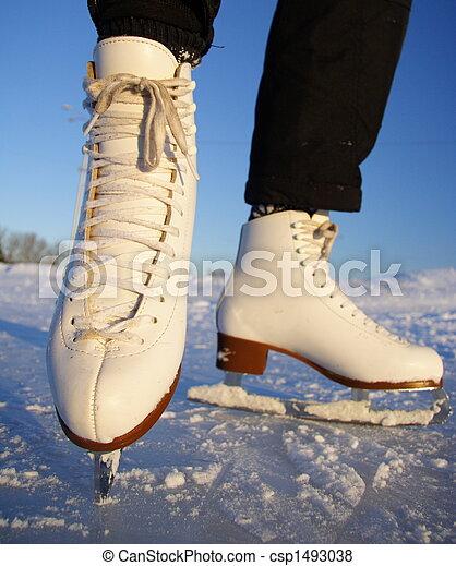 ice skates - csp1493038
