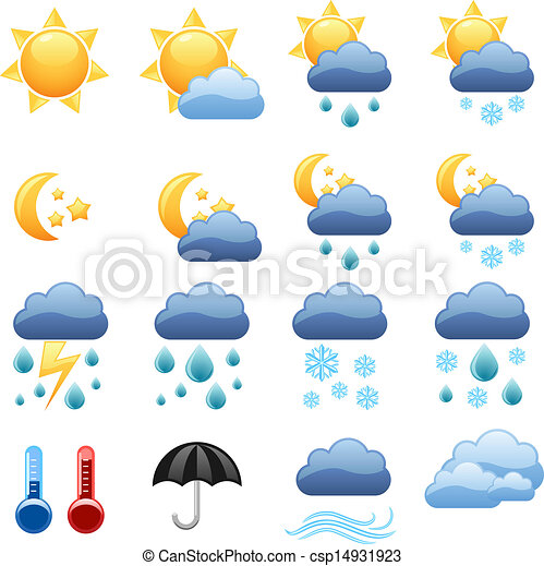 Vector illustration of cool weather vector icons foe web for Cool drawing websites free