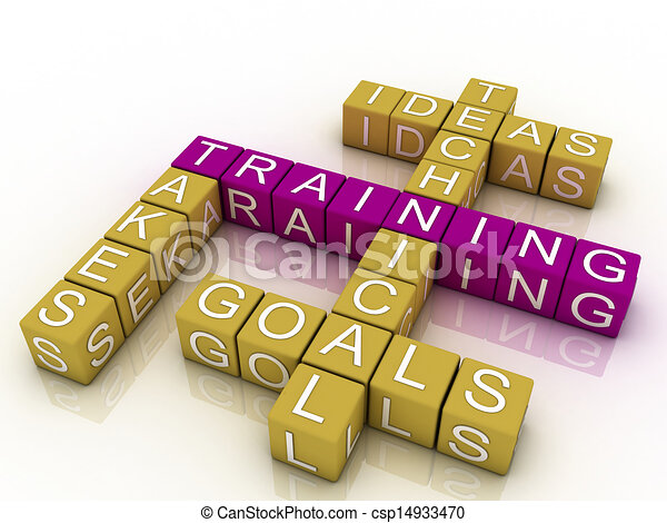 Training and related words concept  - csp14933470