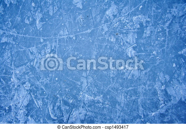 texture of ice skating rink outdoors - csp1493417