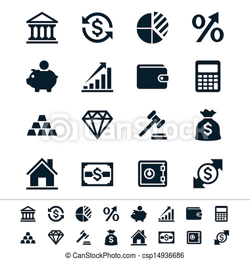 Financial investment icons - csp14936686