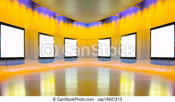 Stock photo frames on white wall in art museum stock image images