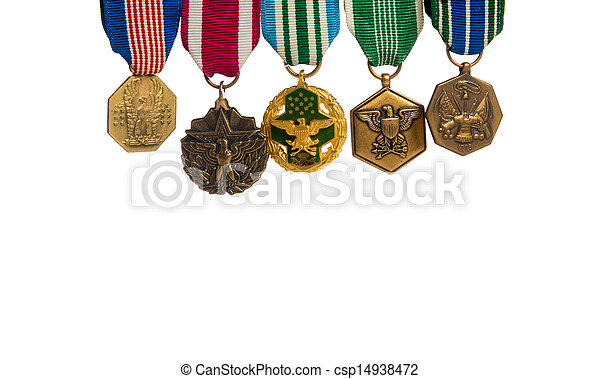 Row of military medals - csp14938472