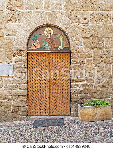 old door and religion - csp14939248