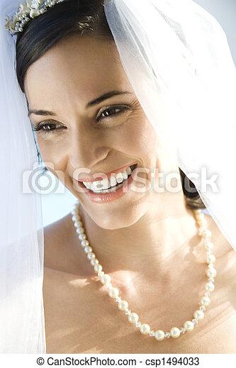 Portrait of bride. - csp1494033