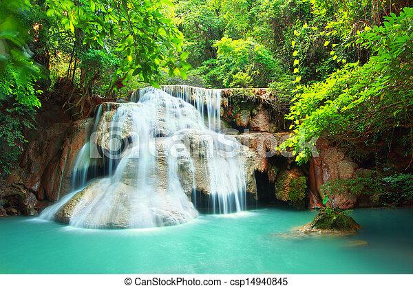 Huay mae kamin waterfall - csp14940845