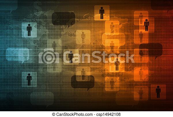 daten, vernetzung - csp14942108