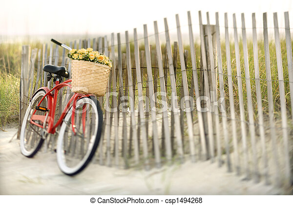 Bike at beach.