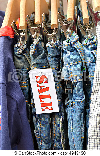 Stock Photos of Jeans Outlet - Kids Fashion labelled by a sale ...