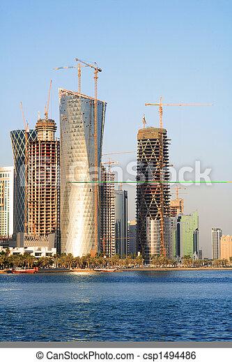 Doha building boom - csp1494486