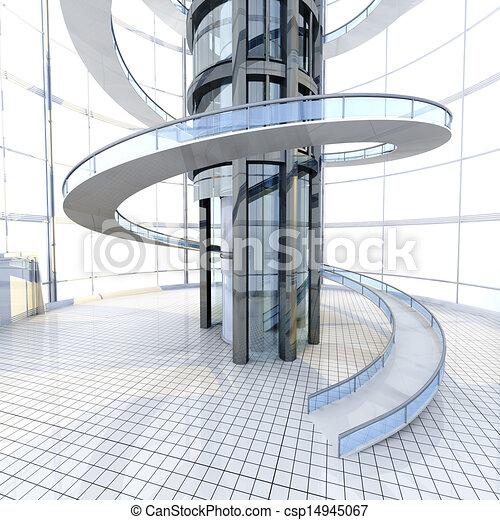 Stock De Ilustracion De Arquitectura Futurista Ciencia