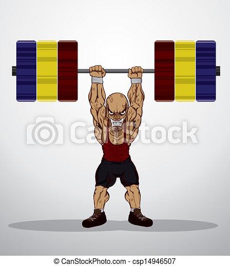 Weight lifter  - csp14946507