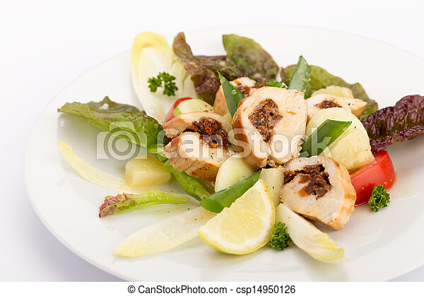 Plate of food - csp14950126