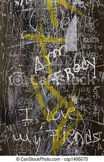 Graffiti in Lisbon, Portugal. - csp1495070