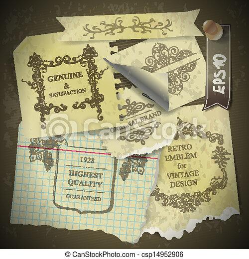 vintage style scrapbook paper