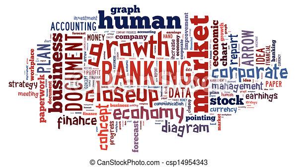 Banking word cloud  - csp14954343