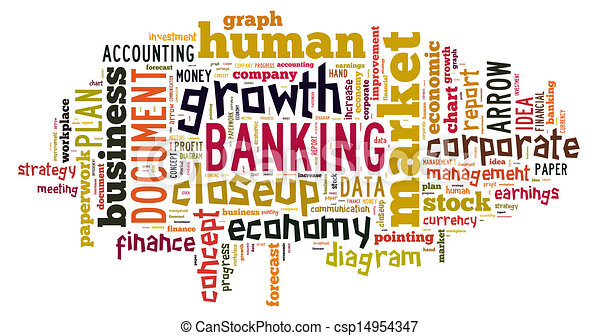 Banking word cloud  - csp14954347