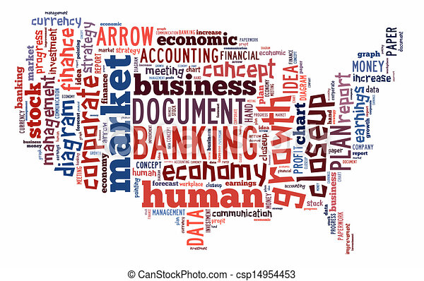 Banking word cloud  - csp14954453